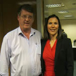 Photo of Dave Moran with Justine Pollard.